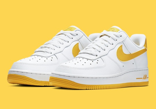 This Air Force 1 Paints Its Swooshes In A Bright Yellow 28fb67613d7f