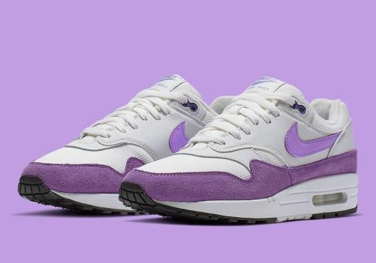 The Nike Air Max 1 Atomic Violet Purple Mudguards