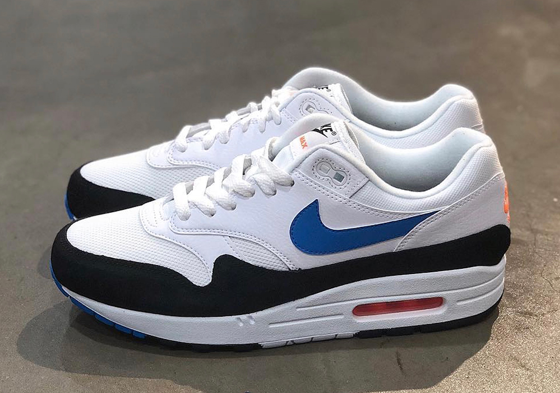 outlet store 91371 e9aef The Nike Air Max 1 Gets Crisp Blue And Orange Accents