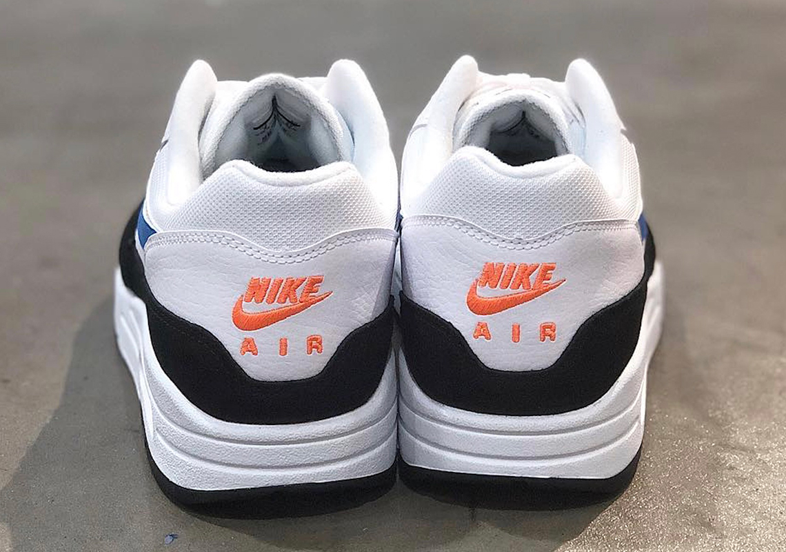 b3dad73e40 Nike Air Max 1 White Blue Orange AH8145-112 Info | SneakerNews.com