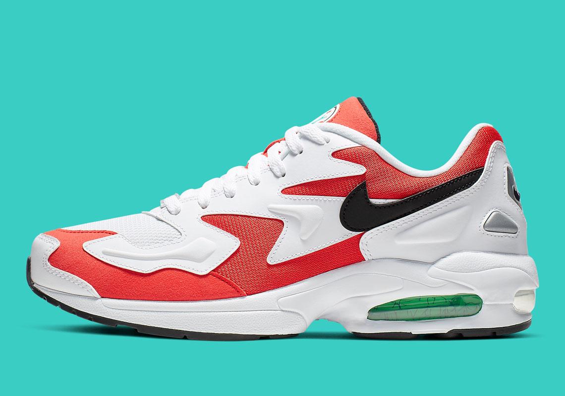 design de qualité bad53 99c42 Nike Air Max 2 Light Habanero Red AO1714-101 | SneakerNews.com