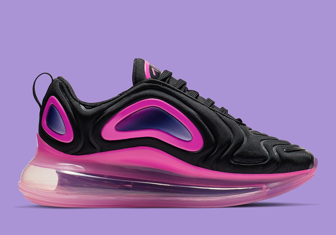 Nike Air Max 720 Kids Black Pink AQ3196-007 Info ...