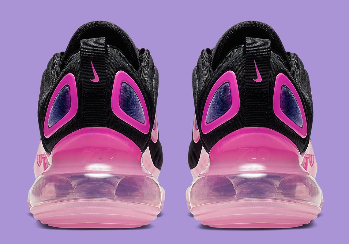 best service f2d03 ee90f Nike Air Max 720 Kids Black Pink AQ3196-007 Info   SneakerNews.com
