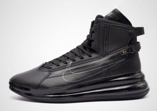 The Nike Air Max 720 Saturn Appears In Triple Black