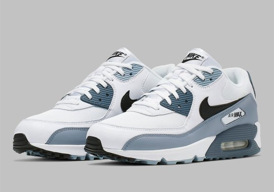 The Nike Air Max 90 Fuses Obsidian And Armory Blue