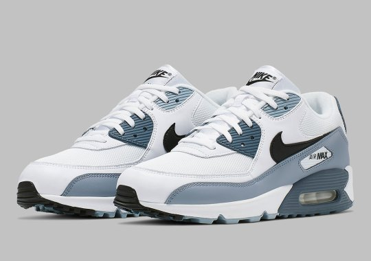 5d3d753584310 The Nike Air Max 90 Fuses Obsidian And Armory Blue