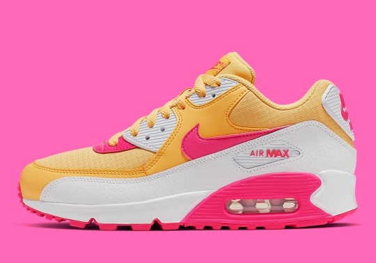 This Women's-Only Nike Air Max 90 Features A Colorful Blend Of Topaz And Fuchsia