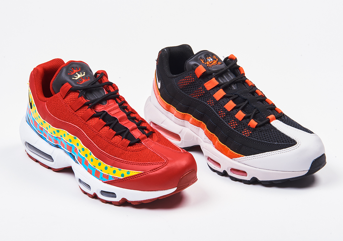 "Foot Locker s Latest ""Home And Away"" Pack Nods To Baltimore With Two Nike  Air Max 95s bfda87847"