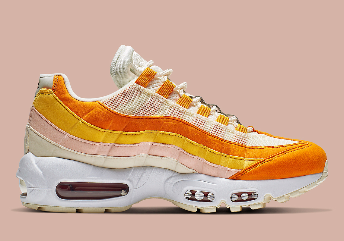new products d95b9 81043 Nike Air Max 95  160. Color  Pale Ivory Forward Orange Style Code   307960-114. Advertisement