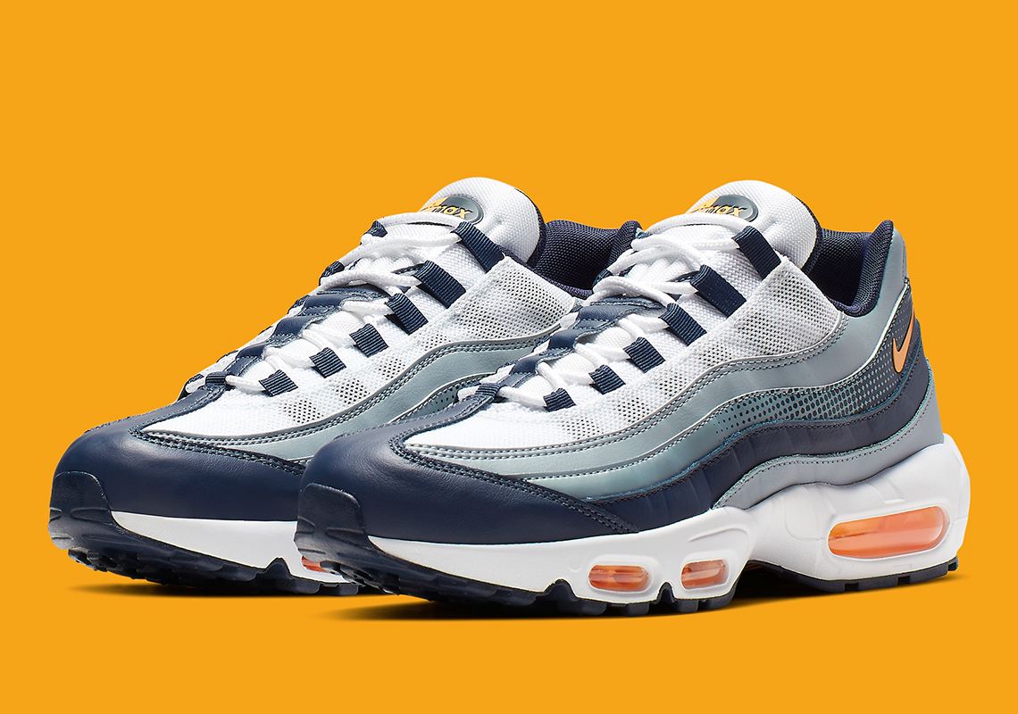 4e7a5afdfa99f Nike Air Max 95 Navy Orange AJ2018-401 Release Info | SneakerNews.com
