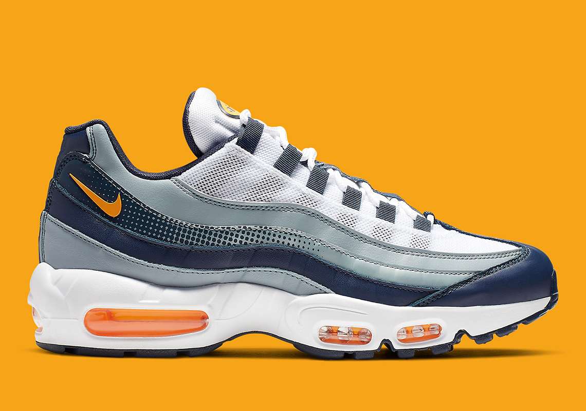 Nike Air Max 95 Navy Orange AJ2018 401 Release Info
