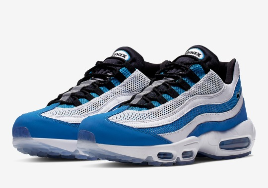 A Sporty Royal Blue Arrives On The Nike Air Max 95 Essential 308d714d5ed8