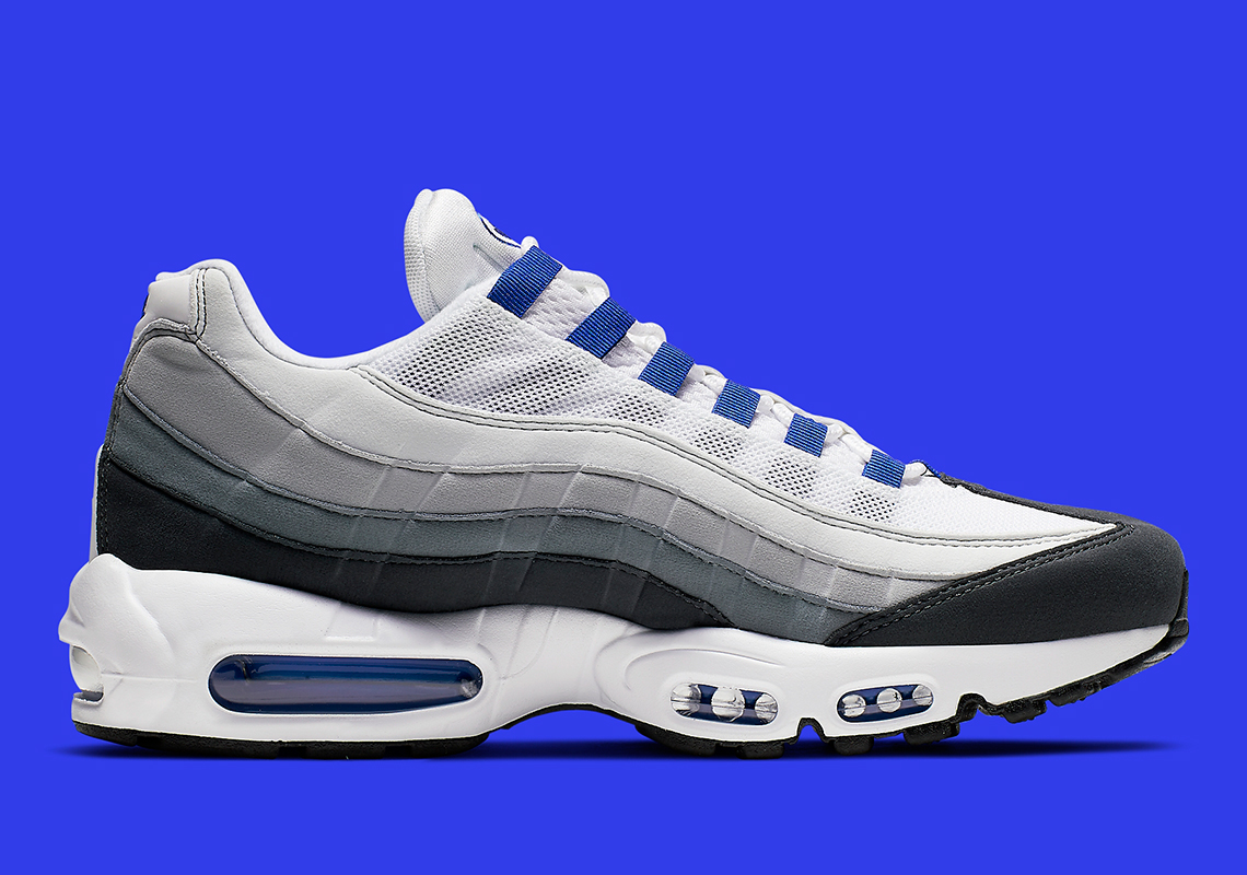 best cheap fa9a3 42c52 Nike Air Max 95 SC  170. Color  White Racer Blue Anthracite Wolf Grey Style  Code  CJ4595-100. Where to Buy. Finish LineAvailable. Advertisement