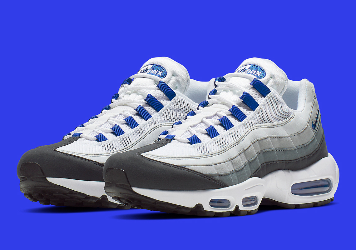 half off 8f9ef c01b2 Nike Air Max 95 SC  170. Color  White Racer Blue Anthracite Wolf Grey Style  Code  CJ4595-100. Where to Buy. Finish LineAvailable