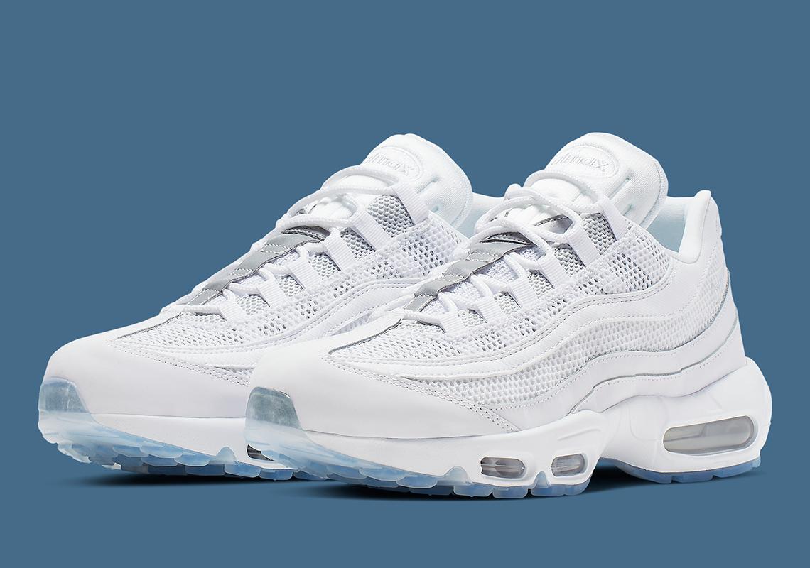 wholesale dealer 00365 42e04 Nike Air Max 95 White Silver 749766-115 Release Info