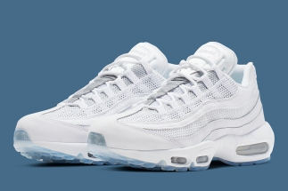 8a41650ea7e174 This Crisp White Nike Air Max 95 Is Ready For Spring