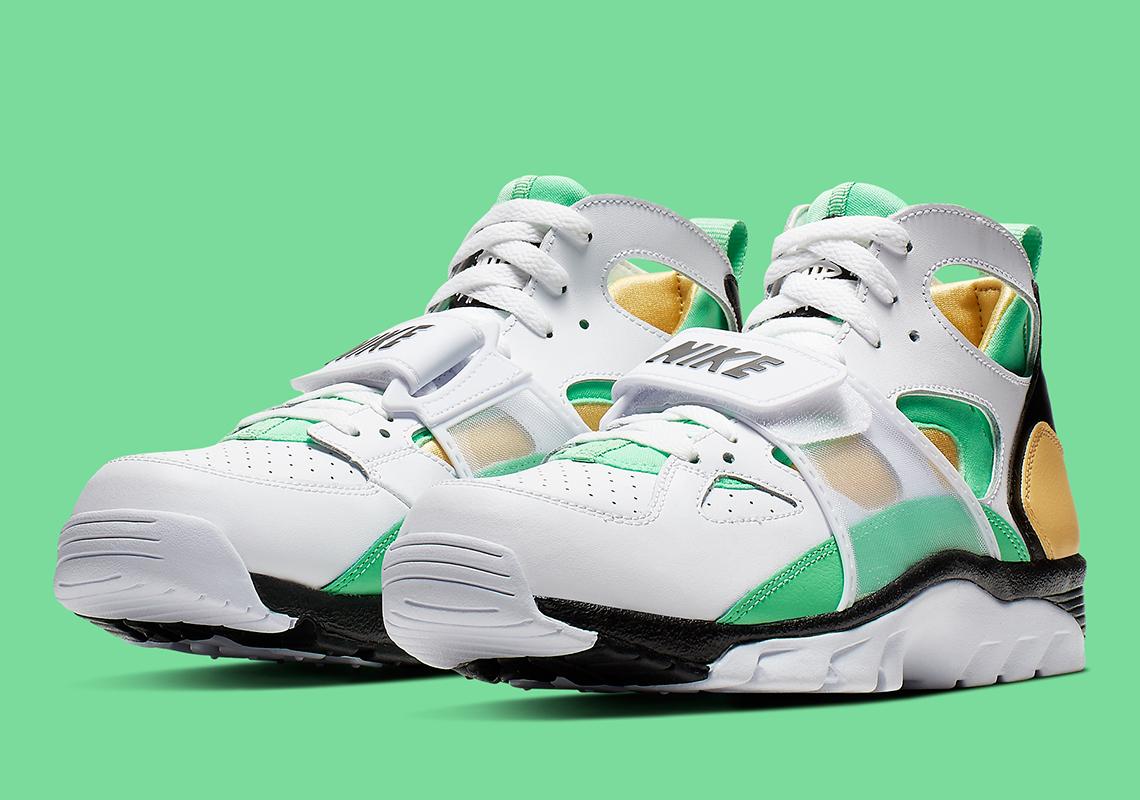 Nike Trainer Huarache White Gold Green 679083,108