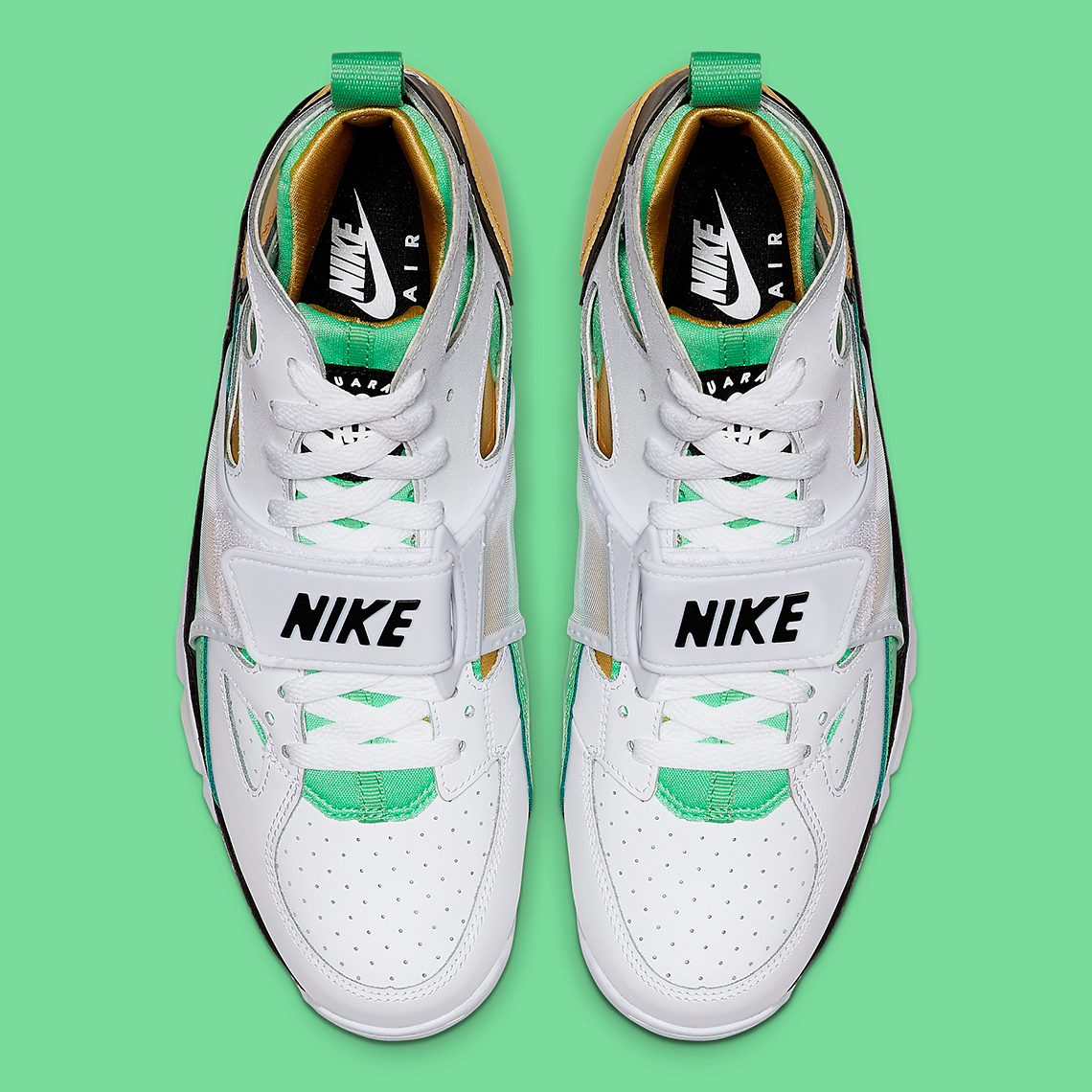 Nike Trainer Huarache White Gold Green 679083-108   SneakerNews.com