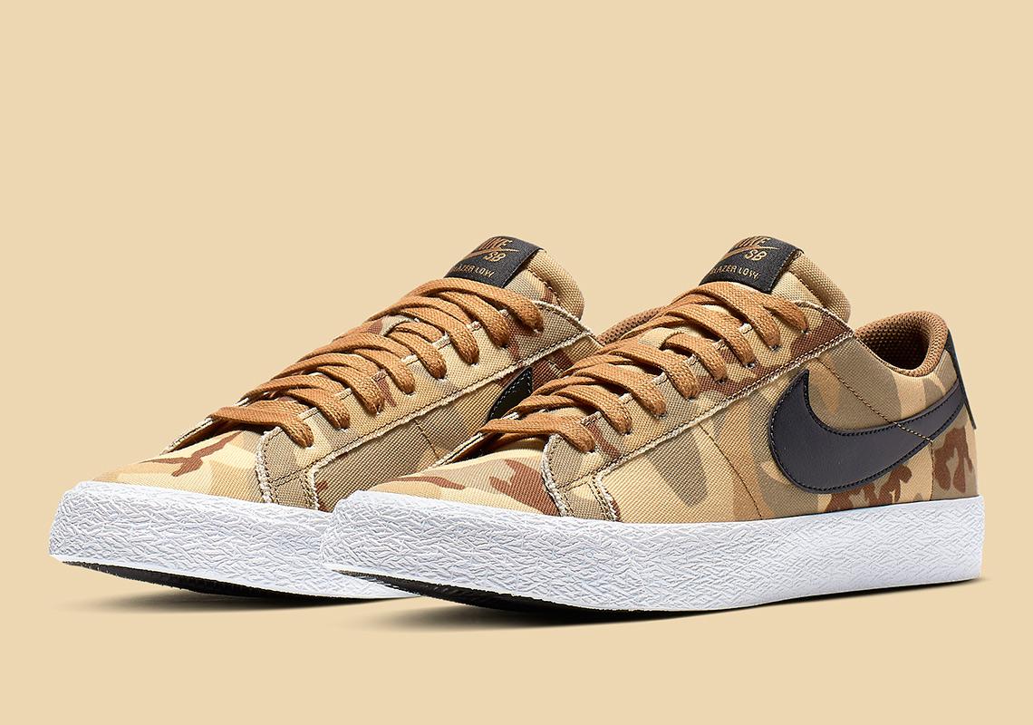 Nike SB Blazer Low Brown Camo 889053-200 Release Info