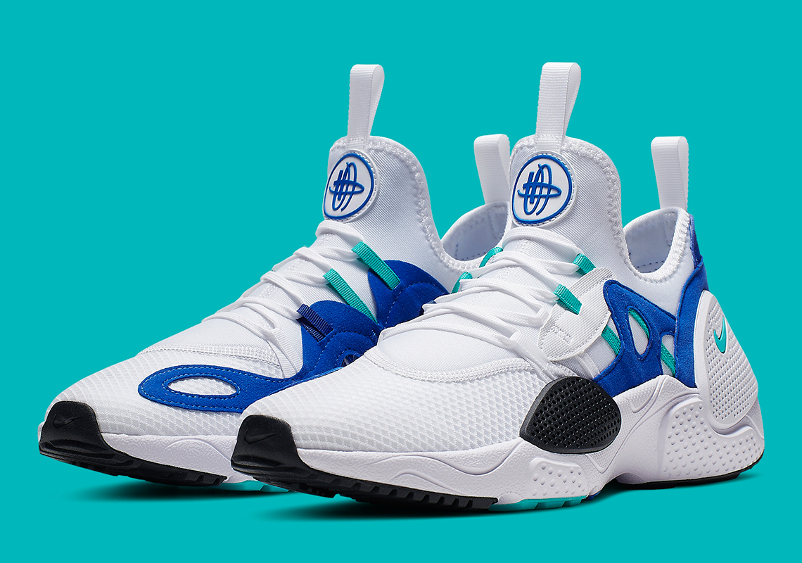 presenting factory outlets latest design Nike Huarache Edge TXT White Blue Teal AO1697-102 ...