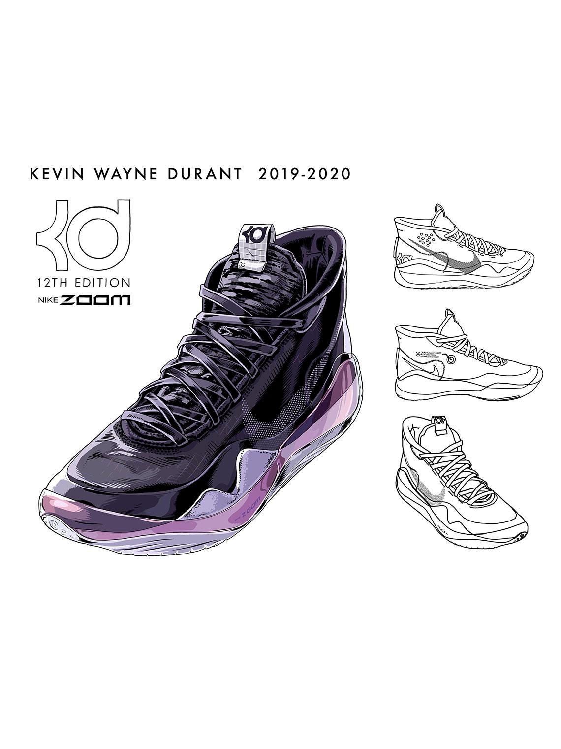 sale retailer fdb4a 45cc5 Nike KD 12 Design Sketch Leo Chang