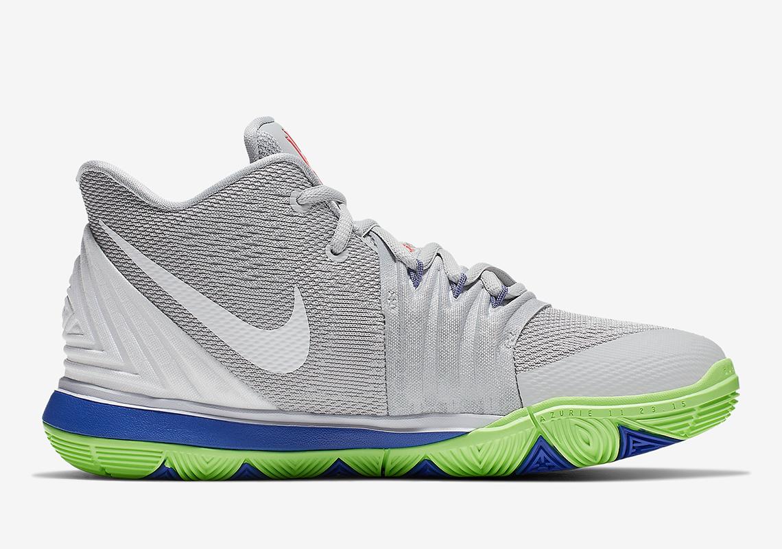 Nike Kyrie 5 Boys Grey Blue Lime AQ2456