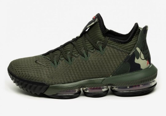 "Nike LeBron 16 Low ""Camo"" Features Classic Nike Air Logo"