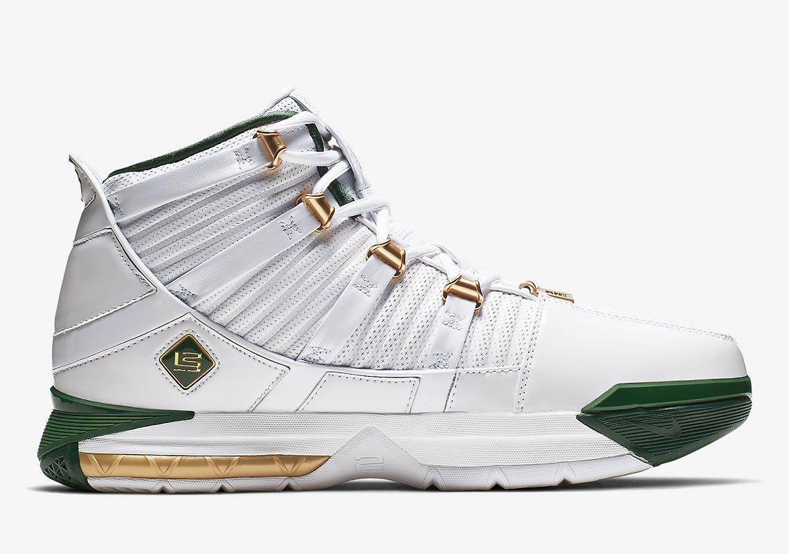 7da9084c387 Nike LeBron 3 SVSM Home AO2434-102 Release Info