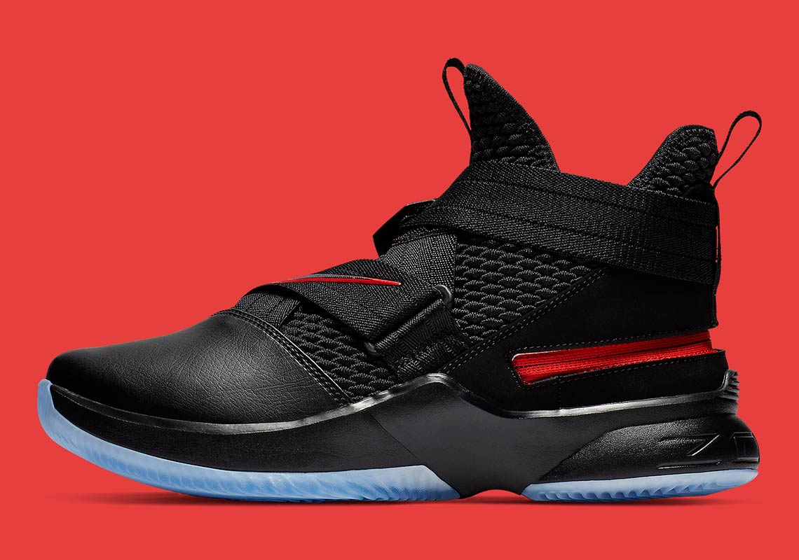 buy popular 4c2c6 8c9d5 Nike LeBron Soldier 12 Bred AV3812-004 Release Info ...