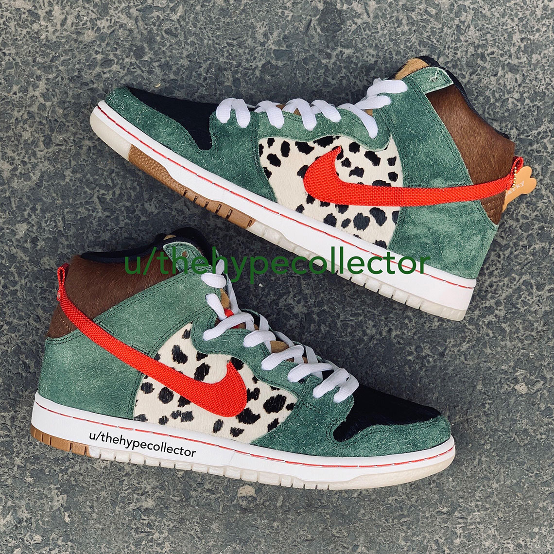 "sale retailer ef8f8 cd624 ... the hairy green suede could allude to the recreational substance  similar to how Todd Bratrud s ""Skunk Dunks"" expressed its tie to weed."