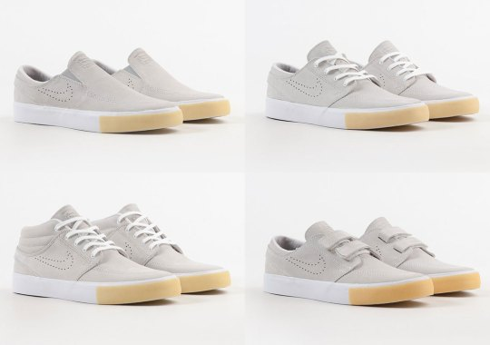 The Nike SB Stefan Janoski Remastered Collection Adds Gum Toe Bumpers