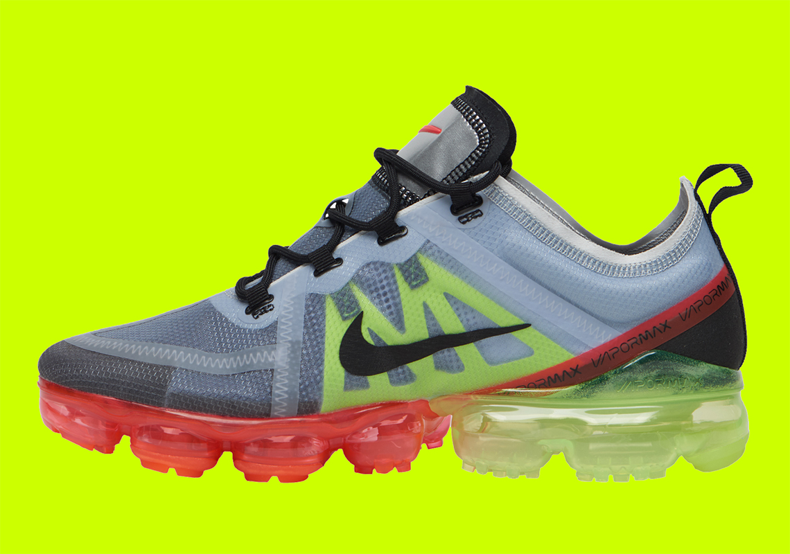 Nike Vapormax 2019 Silver Volt Crimson Ar6631 007