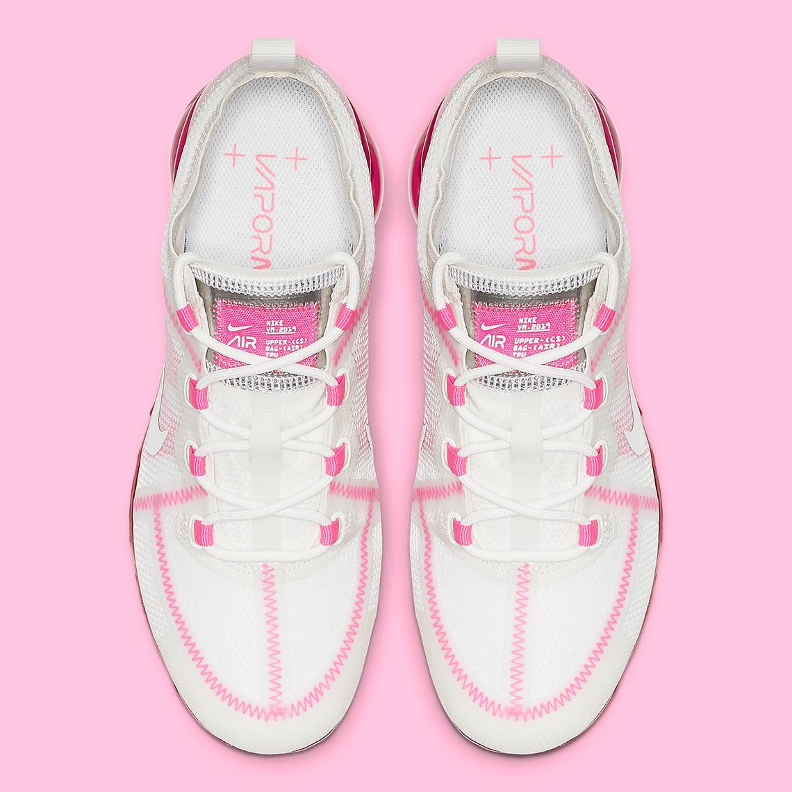 ee3e2bbe9a03c Nike Vapormax 2019 Women s White Pink AR6632-105