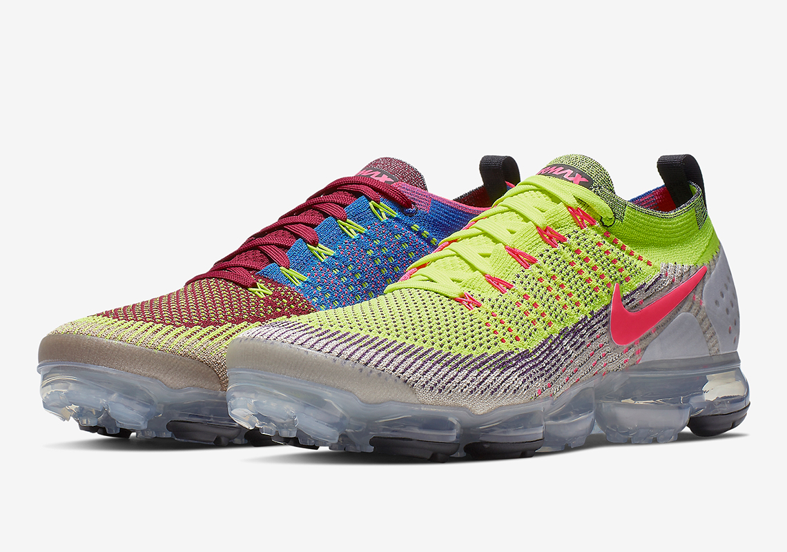 "size 40 626e9 b939c The Nike Vapormax Flyknit 2.0 ""Random"" Combines Several Bright Colors"
