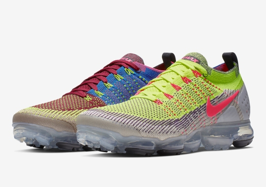 "The Nike Vapormax Flyknit 2.0 ""Random"" Combines Several Bright Colors"