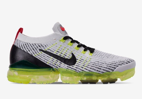 The Nike Vapormax Flyknit 3 Pairs Volt And Crimson For Upcoming Release