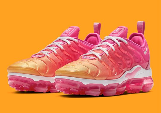 900c3d06ec1b2 The Nike Vapormax Plus Arrives In Another Punchy Summer Colorway
