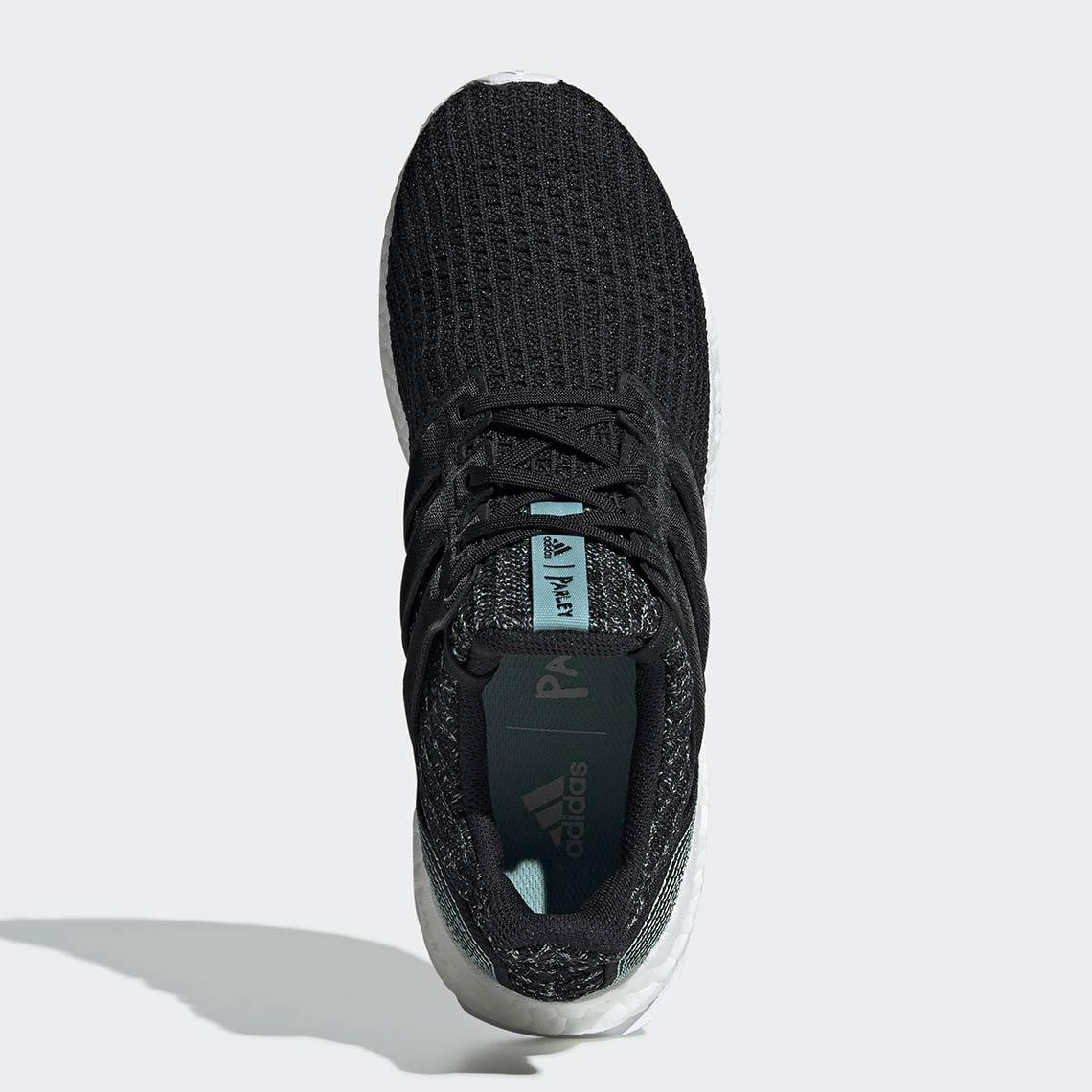 3f49c41e7d6c5 Parley adidas Ultra Boost Black F35190 Release Info