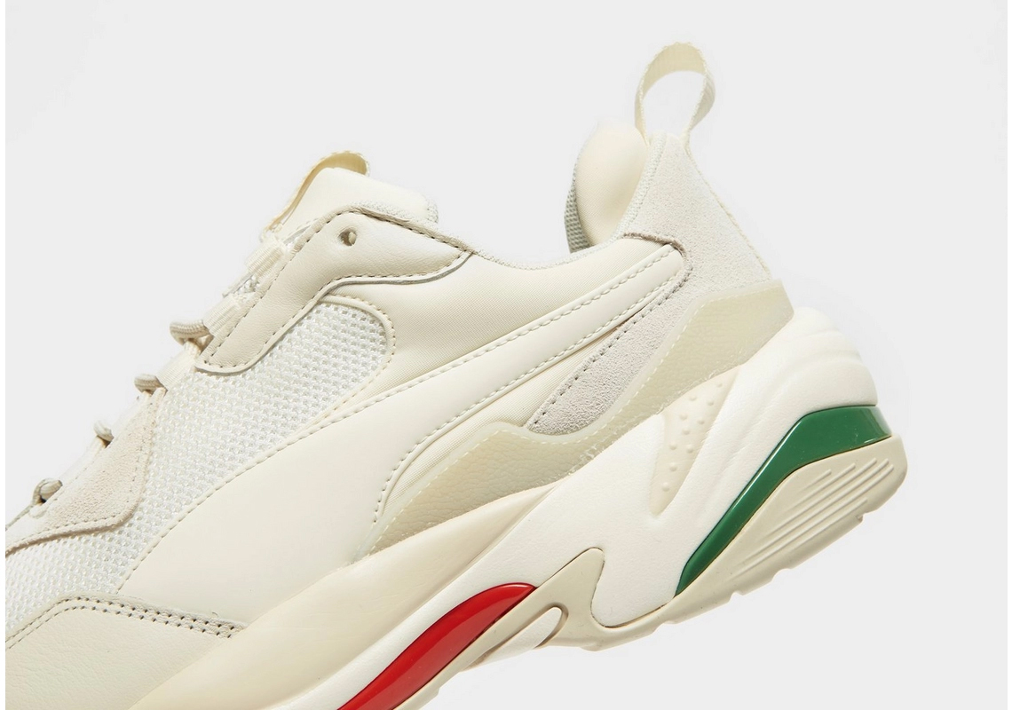 puma thunder white green red