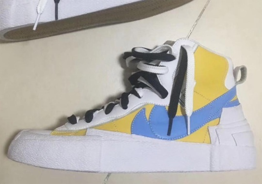 Sacai's Nike Blazer Appears In New Yellow And Blue Colorway