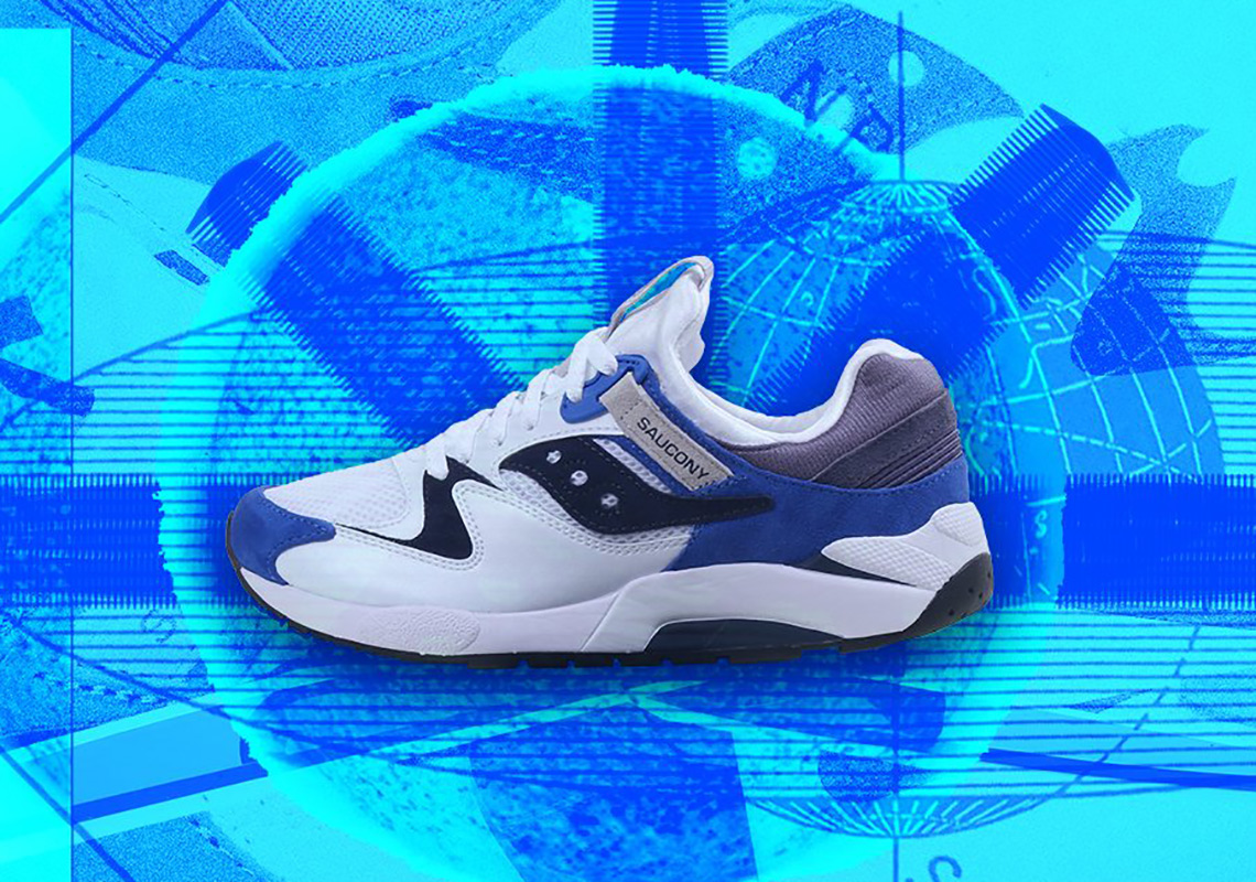 5fae2b2066462 The Saucony Grid 9000 Arrives In A Sport Combination Of Royal Blue And White