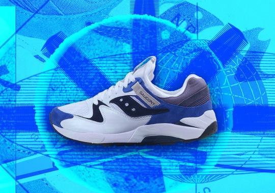 The Saucony Grid 9000 Arrives In A Sport Combination Of Royal Blue And White