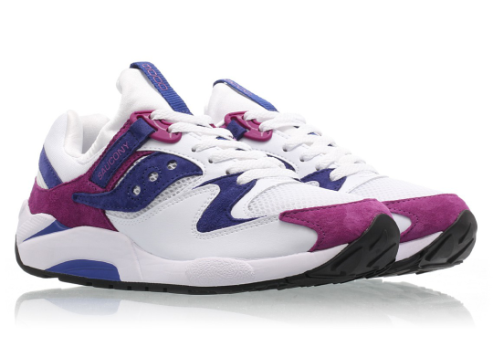 Saucony's Grid 9000 Adds A Clean Combination Of Purple And Pink