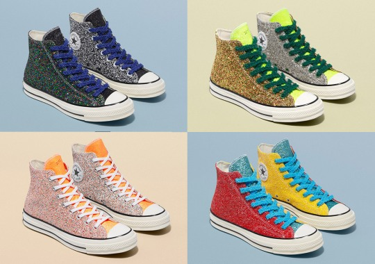"fd9275ffc841 JW Anderson and Converse Revisit ""Glitter Gutter"" With Four Chuck 70s and a  Run"