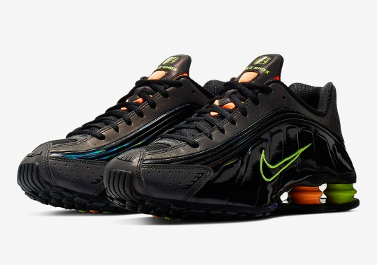 Neon Accents Adorn The Nike Shox R4 GEL