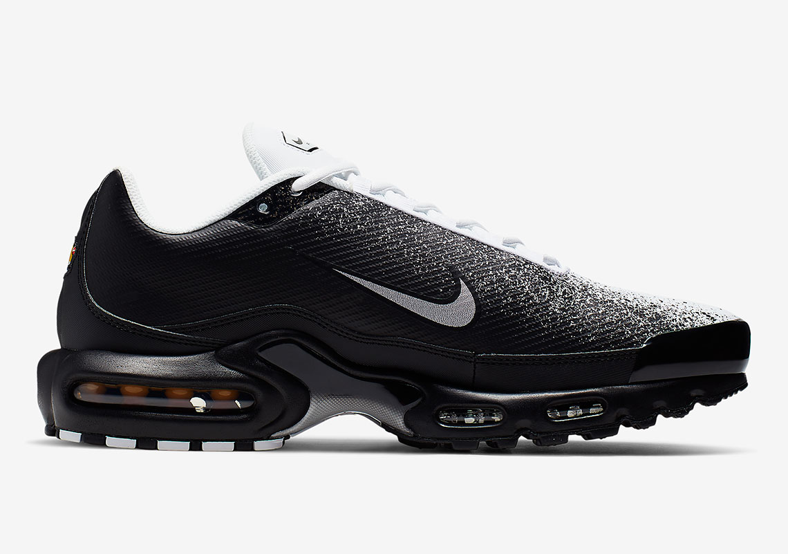 "bbc7120a0 Nike Air Max Plus ""Spray""  160. Color  Black Metallic Silver-White Style  Code  CI7701-002. Advertisement"