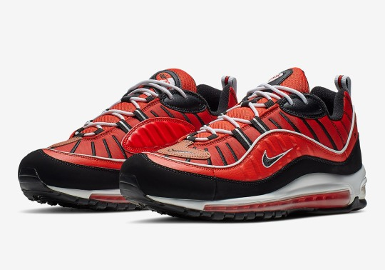 The Basketball-Themed Nike Air Max 98 Returns With Red And Black Colorway