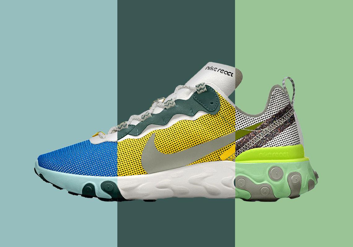 Nike By You React Element 55 ID Custom Release Info