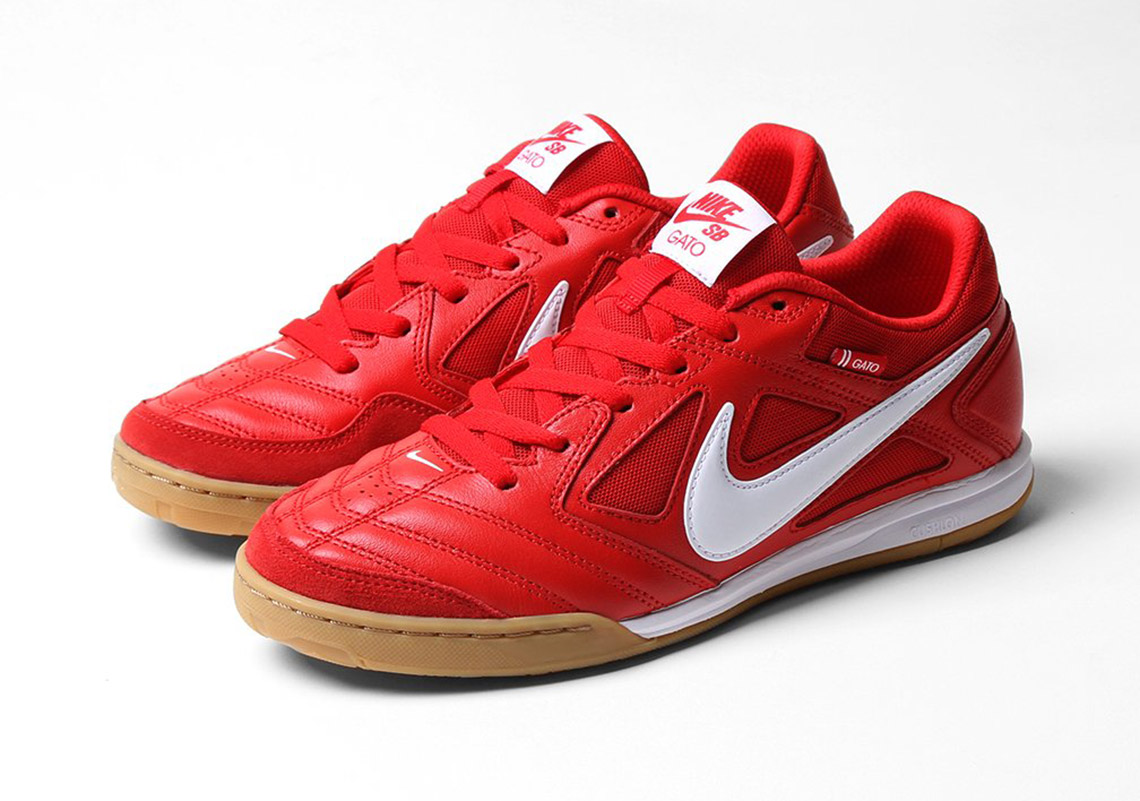 on sale 92a8a a3816 Nike SB Takes Cues From Supreme With This Full Red Gato