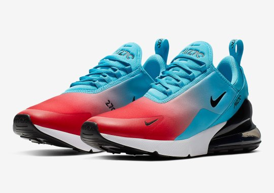 The Nike Air Max 270 Adds Blue Fury And University Red Gradient Uppers